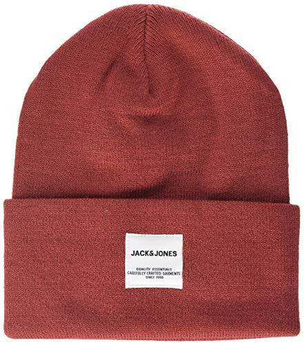 Jack & Jones JACLONG Knit Beanie Noos Bonnet, Rouge (Brick Red Brick Red), Taille Unique Homme