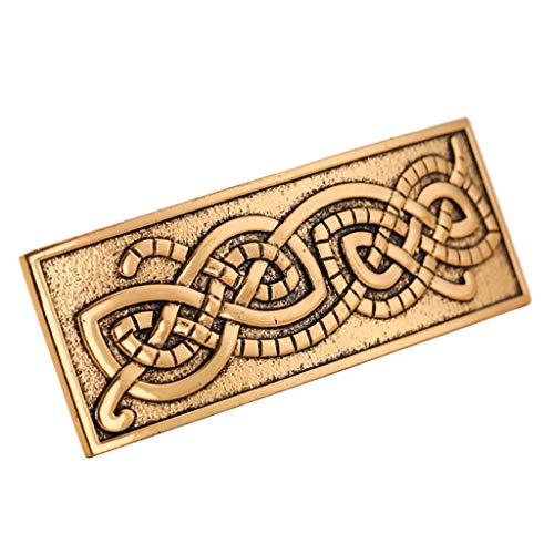 chiwanji Haarspange, Vintage-Stil, Wikinger-Stil, keltischer Knotenschutz, Geschenk für Frauen, Mädchen, 60 mm