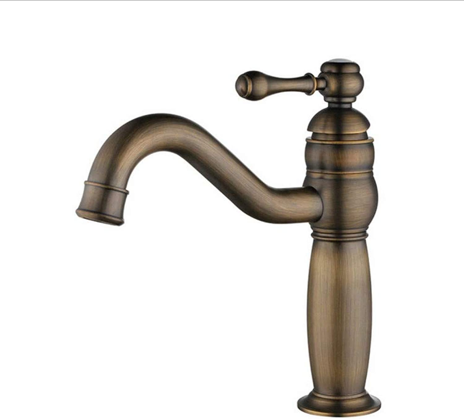 Modern Faucet Bathroom Faucetbathroom Cabinet Antique Copper Hot and Cold Wash Basin Wash Basin redating Faucet