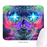 Family Game Office Mousepad Trippy Trance Mix Art Lightweight Non-Slip Rubber Rectangular Mouse Pad