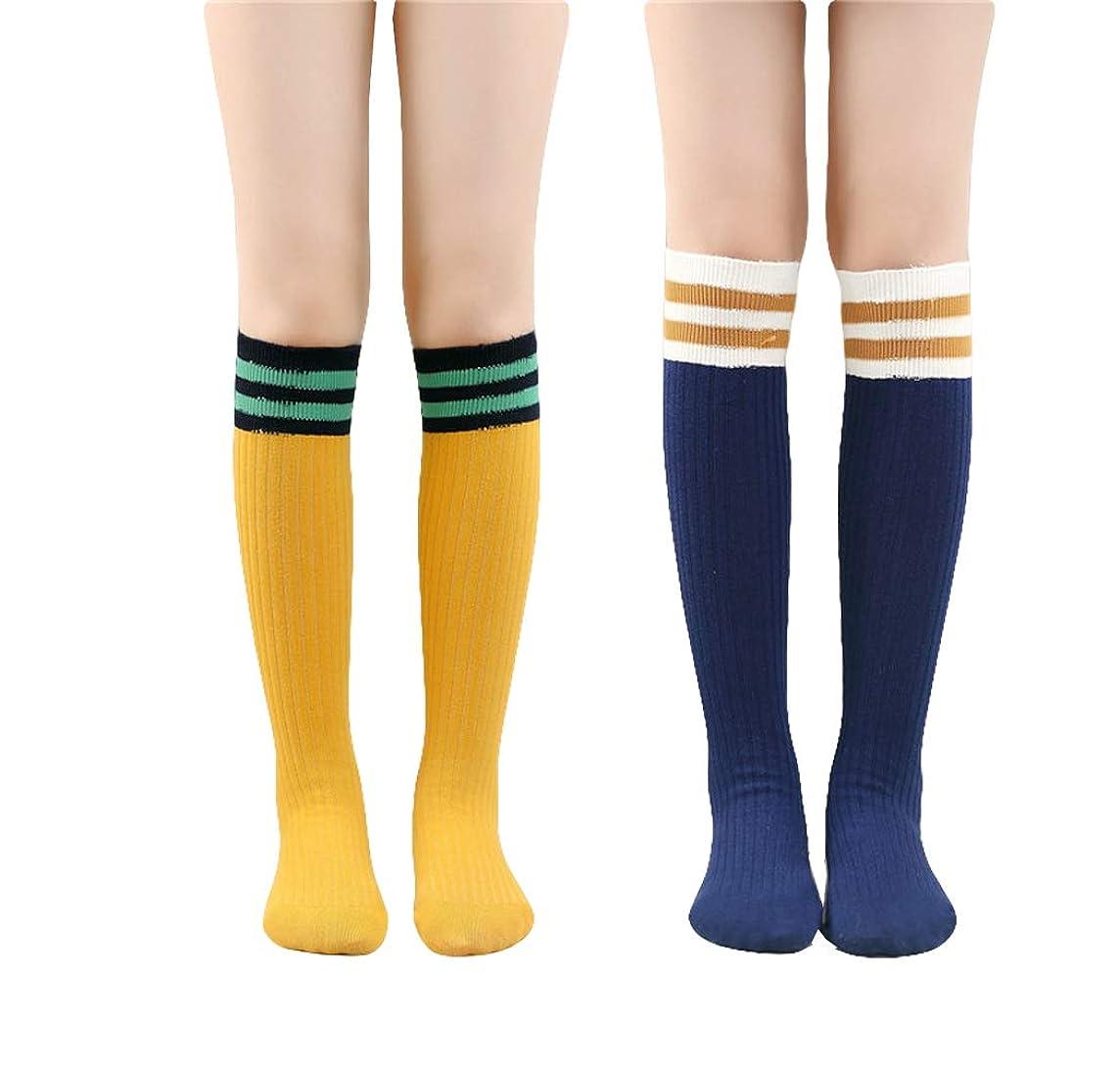 Unisex Knee High Stripe Athletic Tube Socks for Baby Boys & Girls 3-12 Years old