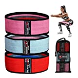 FitMania Fabric Resistance Bands 3 Sets Premium Quality Non-Slip Booty Bands for Women