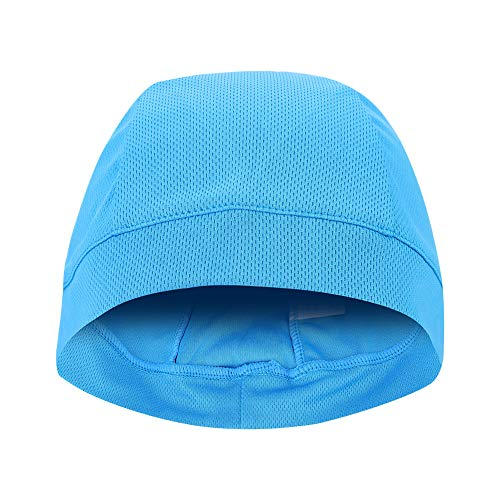 Bonnets Chapeaux Doublure De Casque 6 Couleurs Neutre sous Casque Doublure Cap Sport en Plein Air Vélo Vélo Crâne Chapeau(Bleu)