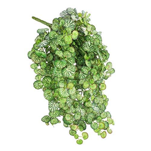 artplants.de Künstlicher Saxifraga Hänger Linus auf Steckstab, mit 560 Blättern, Mini, 60cm - Steinbrech Hängepflanze - Deko Textil Pflanze