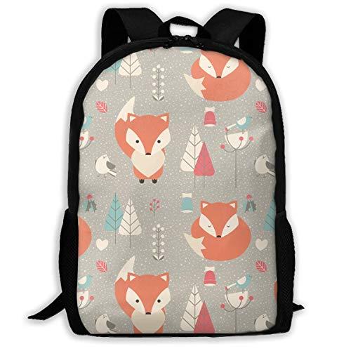 Hui-Shop Sac à Dos de Voyage Sac à Dos pour Ordinateur Portable Grand Sac à Couches - Fox Trees Backpack School Backpack pour Femmes et Hommes