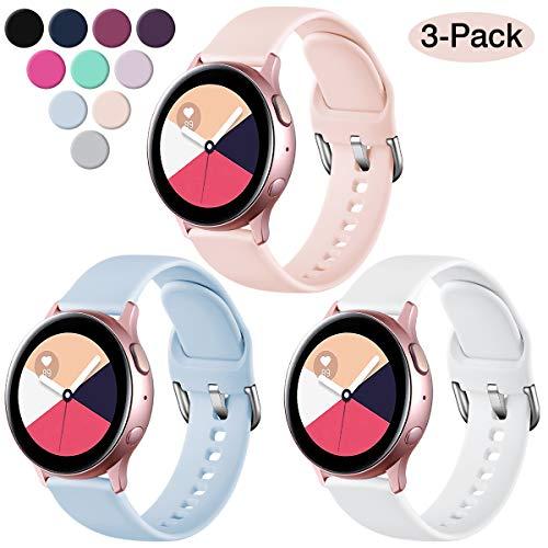 Bester der welt Vobafe 3-teiliges Armband kompatibel mit Samsung Galaxy Watch Active / Active 2 (40 mm / 44 mm), weich…