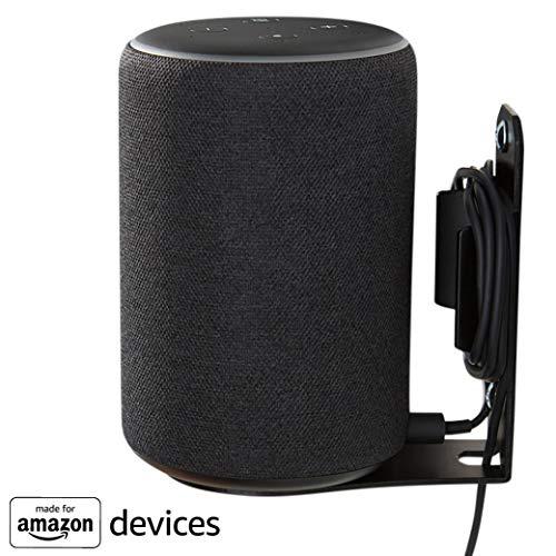 """Supporto da parete """"Made for Amazon"""" per Echo Plus (2a Gen) e Echo (3a Gen) - Nero"""