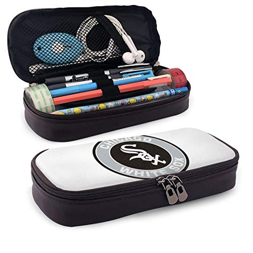 Ch-ICA-Go W-Hite S-Ox - Estuche para lápices de gran capacidad, para escuela, oficina, para niñas, niños y adolescentes