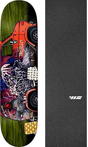 Tavola per Skateboard Anti Hero Tony Trujillo Vanatics, 21 x 81 cm, con Nastro Antiscivolo Nero Jessup WS, Confezione da 2 Pezzi