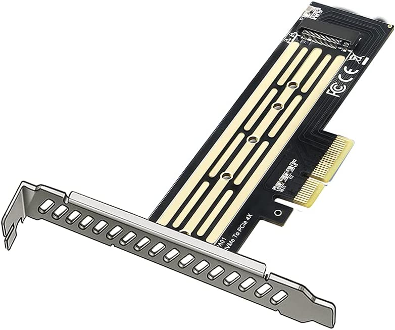 M.2 PCIe NVMe or PCIe AHCI SSD to PCIe 3.0 X4 X8 X16 Adapter Card (Support 22110/2280/2260/2242/2230) (M10)