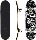 WeSkate Skateboard Komplett Board 79x20cm Holzboard ABEC-7...