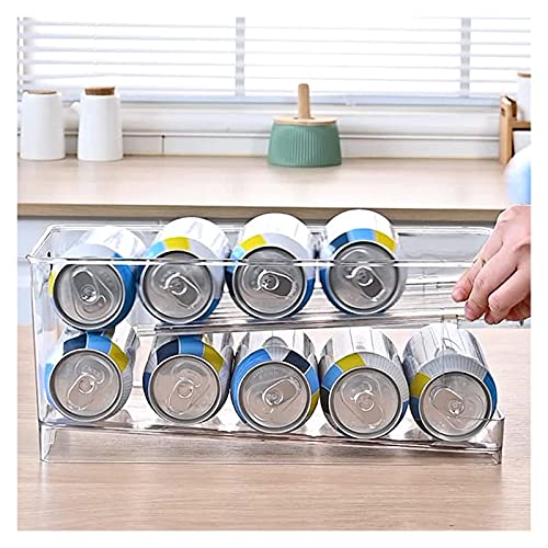 HXR Toporte de Cabezas de Doble Capa para refrigerador Capacidad de Gran Capacidad Organizadores de refrescos para Cocina Transparente Piezas y Accesorios de frigoríficos