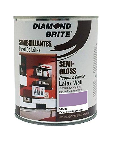 Diamond Brite Paint 51500 1 Quart Bright and Rich Latex Paint Purple Grape