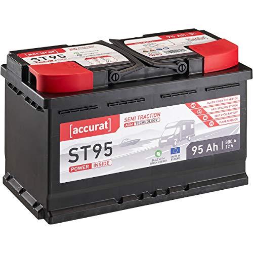 Accurat 12V 95Ah AGM Blei-Akku zyklenfeste Versorgungsbatterie VRLA Semi Traction ST95 wartungsfrei