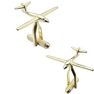 أزرار أكمام طائرة مبتكرة للرجال وصبي سلسلة الطيران للحفل أفضل هدية