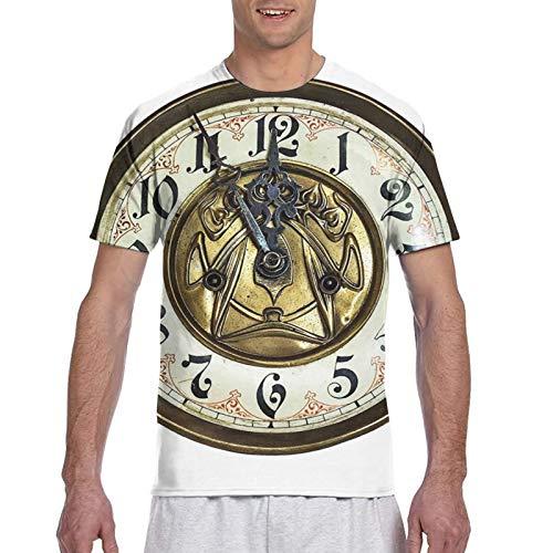 Haiyaner Camiseta de manga corta para hombre, diseño de reloj vintage en...