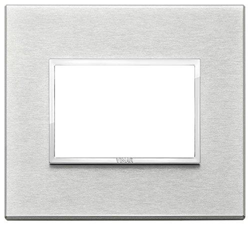 Vimar 21653.02 Eikon Evo Placca alluminio 3M, Grigio Next