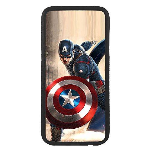 afrostore Custodia cover per Apple iPhone 5 5s Capitan America TPU Bordo Nero