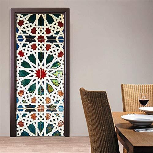 3D Creative Door Decoration Stickers On the Doors DIY Renew Wallpaper Waterproof Art Home Mural Posters A6 85x215cm