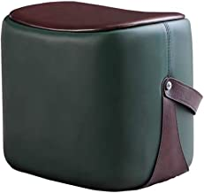 Foot Rest Stool Cube Leather Software Dresser for Bedroom, Living Room Retro Chair Replace The Seat Footstool, 45X33X40cm ...