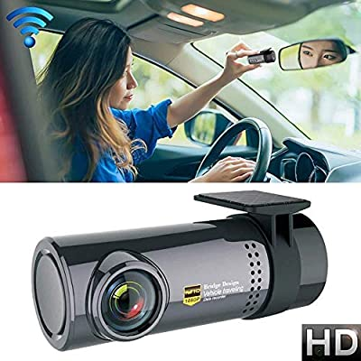 SPRIS CHEZAI Car Dash Camera WiFi Monitor Full HD Dashcam Video Recorder Camcorder Motion Detection, Support TF Card & Android & iOS from SPRIS