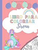 libro para colorear Sirena: 15 sirenas para colorear y recortar I Folleto de coloración para niños y niñas