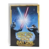 Hallmark Star Wars Birthday Card with Light and Sound (Happy Birthday, Young Jedi) (0799RZB8009)