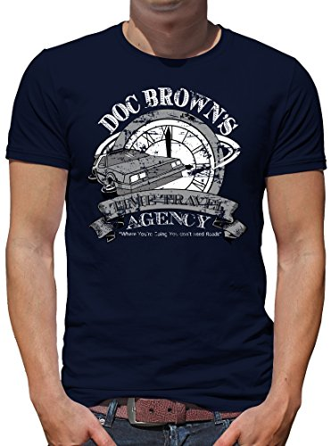 TShirt-People Doc Browns Time Travel T-Shirt Homme - Bleu - Small