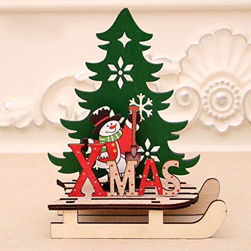 Redcolourful Kerstpuzzel, hout, slee, auto, groot, voor huis/winkel/kantoor, cadeau voor decoratie