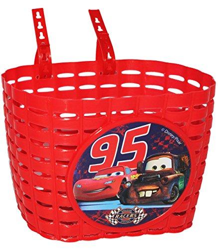 Fahrradkorb / Korb - Disney Cars Lightning McQueen mit Befestigung den Lenker vorn - Fahrrad Car Auto Mc Queen Autos Jungen - auch für Roller und Dreiräder / ..