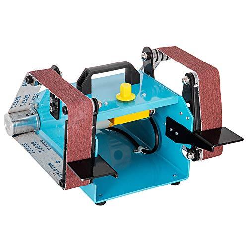 Mophorn Bandschleifmaschine 950W 220V doppel Bandschleifer 800-6000 U/min Bandschleifer mit variabler Geschwindigkeit Schleifplattform und Gurtführung für Profilierung (950W)