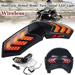 Hengyuanyi 12 V Inalámbrico Motocicleta Intermitente LED Freno Smart Casco Luz ABS Shell Seguridad Running Luces Indicadores de señal de Giro
