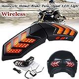 Hengyuanyi 12 V inalámbrico motocicleta señales de giro LED freno inteligente casco luz ABS Shell seguridad luces corrientes indicadores de señal de giro