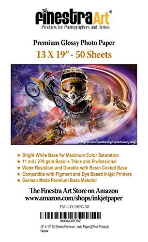 "13"" X 19"" Premium Glossy Inkjet Photo Paper - 50 Sheets"
