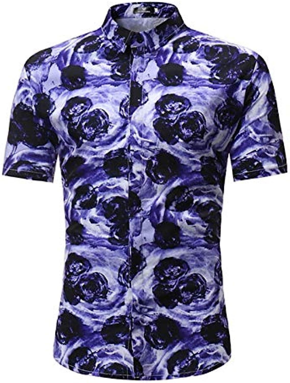 Men's Shirt  Geometric color Block Print