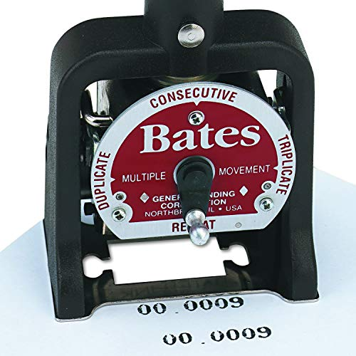 Bates Standard Multiple Movement Numbering Machine, 6 Wheels, Type Size E (9820315) Photo #3