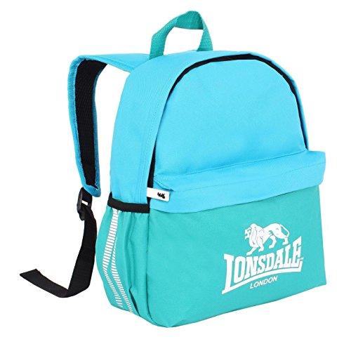 Lonsdale Mini Zaino Verde Acqua/Blu, Zaino Borsa Sportiva Borsa da Ginnastica Kitbag, Teal/Blue