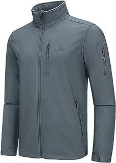 Mens Softshell Jacket Fleece Lined Waterproof Windproof Lightweight Outdoor Jackets Full Zip Hiking Work