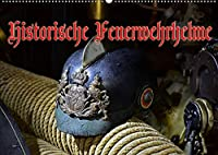 Historische Feuerwehrhelme (Wandkalender 2022 DIN A2 quer): Alte Kopfbedeckungen unserer Retter und Helfer (Monatskalender, 14 Seiten )