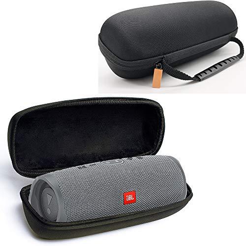 Flycoo harde schaal beschermhoes voor JBL Charge 4 luidspreker, draagbaar, draadloos, Bluetooth, draagbaar, met ritssluiting, schokbestendig, zwart