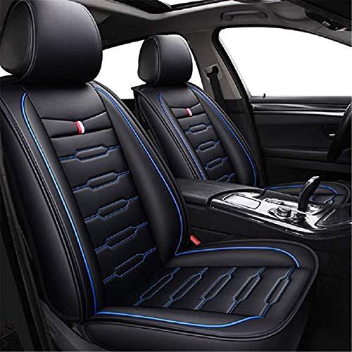 TTYY Autositzbezüge Full Set Universal-Fit 5 Sitze Auto Umgeben Wasserdichtes Leder-Schutz Einstellbare Removable Auto-Sitzkissen Blue