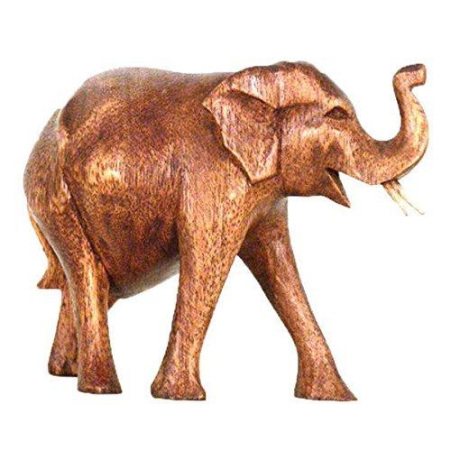 Simandra Elefant Holz Figur Skulptur Abstrakt Holzfigur Statue Afrika Asia Glücksbringer Handarbeit Deko Größe 6 cm