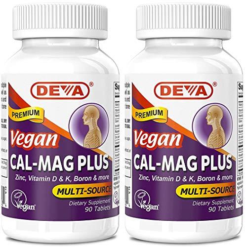 DEVA Vegan Cal MAG Plus Supplement with Calcium, Magnesium, Zinc,...