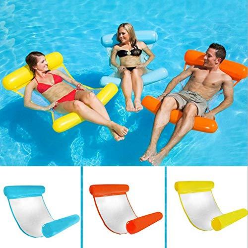 gerFogoo ZhuHaoKeJi Hammock Float Portable Swimming Pool Lounge Inflatable Water Pillow,Multi-Purpose Pool Hammock 120 * 75cm(120 * 75cm OR)