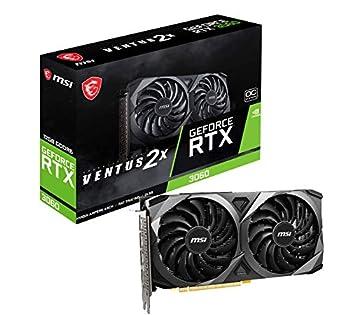 MSI Gaming GeForce RTX 3060 12GB 15 Gbps GDRR6 192-Bit HDMI/DP PCIe 4 Torx Twin Fan Ampere OC Graphics Card  RTX 3060 Ventus 2X 12G OC