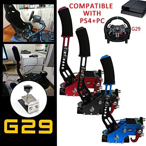 G295 / G27 / G29 / G920 T300RS PS4 + PC Freno de mano USB + Abrazadera para Logitech Frake Racing Games System Handbrake Auto Reemplazo Piezas (Color : G27 Red)