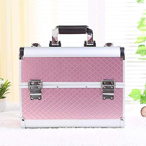 Kulturtaschen Damen, Rosa Großer Raum Multi-Layer Makeup-Box Reisekosmetik-Organizer Für Frauen Wash Bag Universal Kann Von Der Ganzen Familie Genutzt Werden