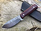 Perkin Damascus Steel Hunting Knife With...