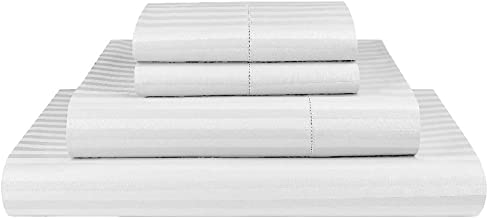 Luxor Linen 1000TC Ultra Soft Microfibre Sheet Set (1000TC-MIC-1CM-SS-S-WHI), White, Single.