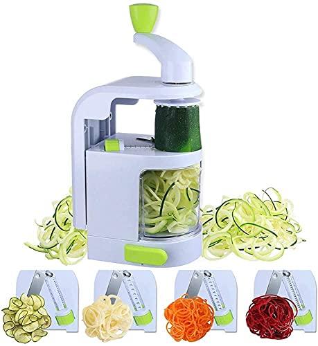 Ruixing Küchengeschirr 4-in-1 Spiralizer Hochleistungs-Gemüseschneider für die Küche, mit starkem Saugnapf, für Zucchini-Spiralnudeln/Zudeln/Spaghetti/Nudeln